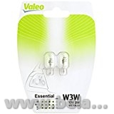 Автолампа накаливания W3W 12V 3W W2.1x9.5d Essential 2шт/блистер VALEO 32114